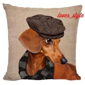 DACHSHUND 🐶 DECOR ACCENT PILLOW COVER